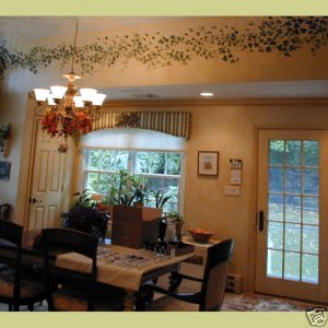 ENGLISH IVY STENCILS 3 PC SET MURALS EASY WALL DECOR