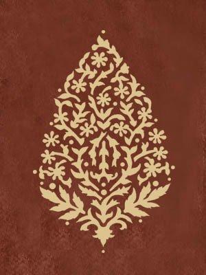 WALL STENCIL PAISLEY, EXOTIC INDIA STENCILS BoHo Stencil Design
