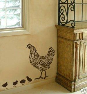 Four Little Chicks Stencil Kit, Reusable Easy stencils for Home Decor