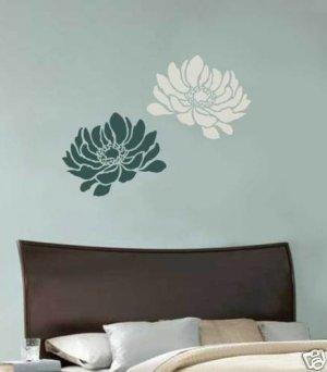 Flower Stencil Anemone Grande MED, DIY Stencils for Walls, Furniture