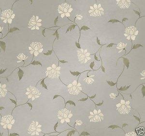 Wall Stencil Peony Allover - DIY Wall pattern stenciling not wallpaper