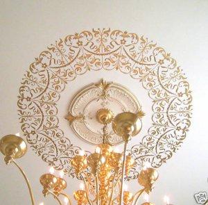 Decorative Stencil Georgian Ceiling Medallion - DIY home decor