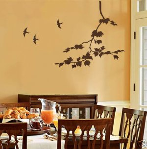 Wall Stencil Sycamore Spreading Branch, DIY Stencil better than decals