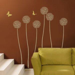 Flower Allium Gladiator, DIY Reusable stencils for wall decor