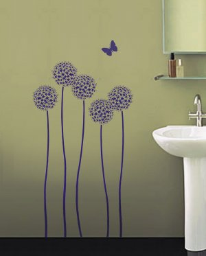 Flower Stencil Allium Twins, DIY Reusable Stencils for easy home decor
