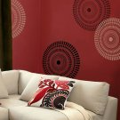 Wall Stencil Funky Wheel MED, DIY Reusable Stencils better than decals
