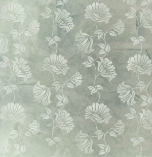 POPPY STENCIL ALLOVER DAMASK, Reusable Wall Stencils