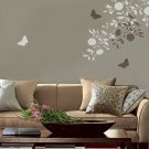 WALL STENCILS BLOOMING BRANCHES 2PC SET, MODERN STENCIL DECOR