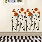 LARGE WALL STENCIL Poppy Field, Sturdy Wall Stencils