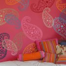 Stencil Vintage Paisley MED, Reusable wall stencil for DIY home decor