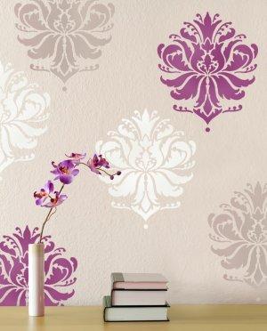 Damask Stencil Gabis Brocade MED, Stencil for walls, furniture, fabric