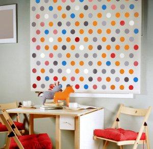 Wall stencil Polka Dot Allover SM, Wall decor for Nurseries, Kids Room