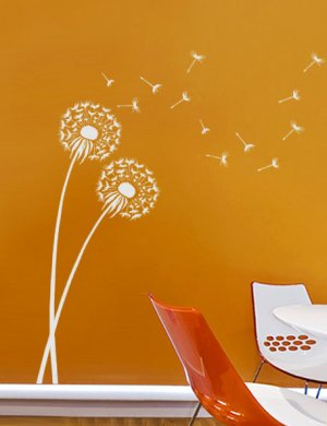 Stencil Dandelion MED, DIY Reusable wall stencils better than decals