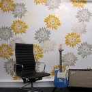 Flower stencil Chrysanthemum Grande MED, Wall Stencils for Easy Decor