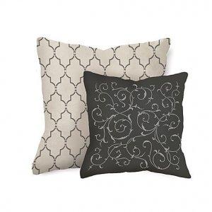 Craft Stencil Lily Scroll SM, DIY Stencils for furniture, pillows