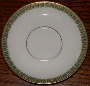 Theodore Haviland Saucer Gold and Green Pattern