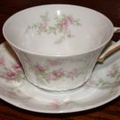 Theodore Haviland Cup and Saucer Pink Flowers