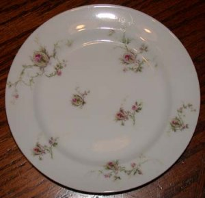Haviland France Bread and Butter Plate Pink Roes