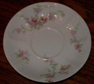 Theodore Haviland Pink Flower Saucer