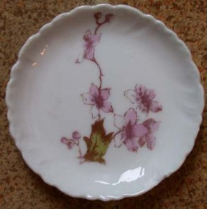 Charles Field Haviland Butter Pat Pink Flowers