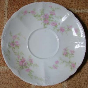 Theodore Haviland Saucer Pink Flowers Early 1900's