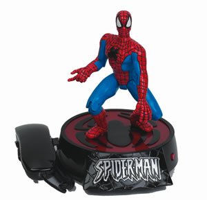 Spiderman animated novelty telephone throws web and talks with incoming call