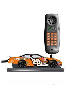Novelty #20 Tony Stewart Nascar telephone Sound effects ringer (engine revving, crowd