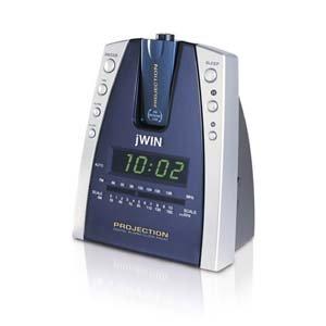 Projection Alarm Clock AM/FM radio Wake to music/buzzer