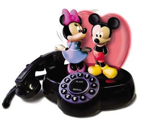Mickey & Minnie Novelty Animated talking Phone Hearing aid compatible