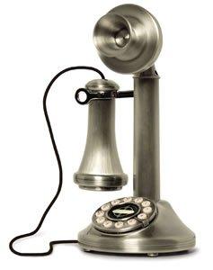 Antique Vintage Style 1920's CANDLESTICK TELEPHONE phone chrome