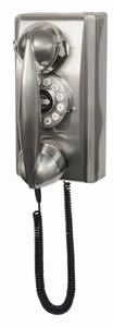 CROSLEY CR55 CHROME RETRO 302 1940's style WALL PHONE