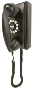 CROSLEY BLACK 1940's style RETRO WALL PHONE TELEPHONE CR-55