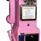 CROSLEY CR56 PINK Payphone 3 slot rotary pay phone CR-56