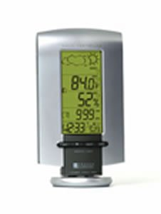 Oregon Scientific long range wireless weather station with Clock BAR898HGA