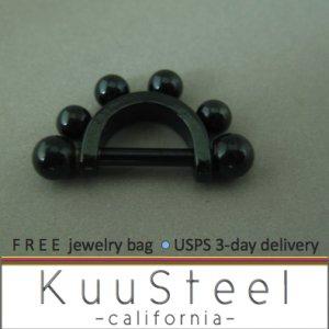 Cartilage ear piercing earring jewelry - cool black drops earrings - Eyebrow Ring