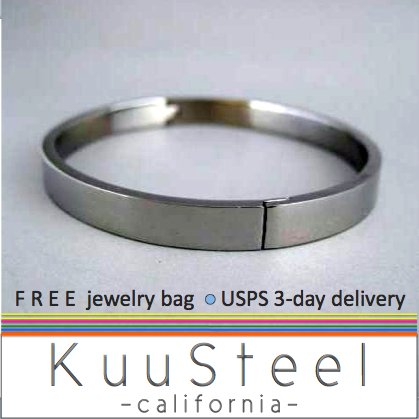 Mens Accessories-Cool Silver Bracelet Bangle For Men-Steel For Men (#660)