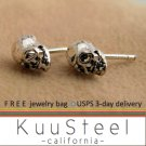 Mens Sterling Silver Earrings Stud Earrings  Skull Earrings Jewelry For Men (#467)