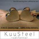 Heart Geometric Men's Cufflinks – For Men Women Groomsmen (#730B)