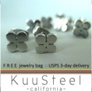 Mens Stud Earrings Silver Huggie - Lucky Steel Jewelry For Men – Lucky Cloves (#416)