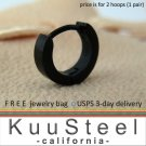 Mens Earrings XS Hoop Black Huggie - Cartilage Earrings For Men – Extra Small (#101)