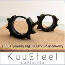 Mens Earrings Black Hoop Huggie – Stainless Steel Earrings For Men– Medium Thorn (#158)
