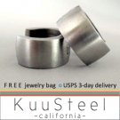 Mens Earrings Silver Hoop Huggie - Bold Steel Earrings For Men – Bold (#170)