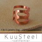 Mens Ear Cuff Earring – Sterling Silver Earrings 18K Rose Gold Plated – Ear Cuff (#102B)