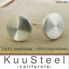 Mens Sterling Silver Earrings Stud Earrings  Look Like Plug Earrings - XL Flat Disc (#420D)