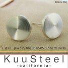 Cheater plugs, men's stud earrings, handmade sterling silver disc stud earrings, EC420 10MW