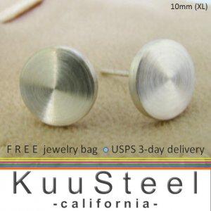Sterling silver cheater plugs stud earrings for men, EC420 10MW