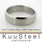 Simple Wedding Ring - Cutting Edge Design Slim - Stainless Steel Plain Wedding Band #362