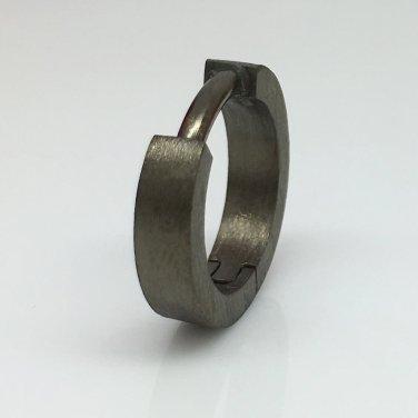 14 Gauge hoop earrings, 14G black gauged men's hoop earrings ECE19014G