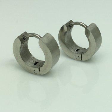 Extra small cartilage steel men's hoop earrings, EC110