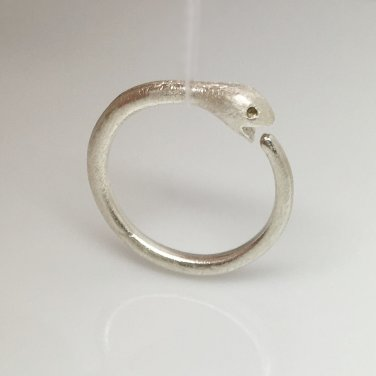 14 gauge earring, ouroboros snake eating tail hoop earring, ECE195N